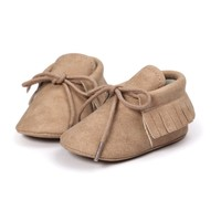 Baby Mocassins Leather Beige