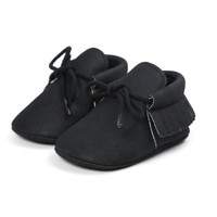 Baby Mocassins Leather Black