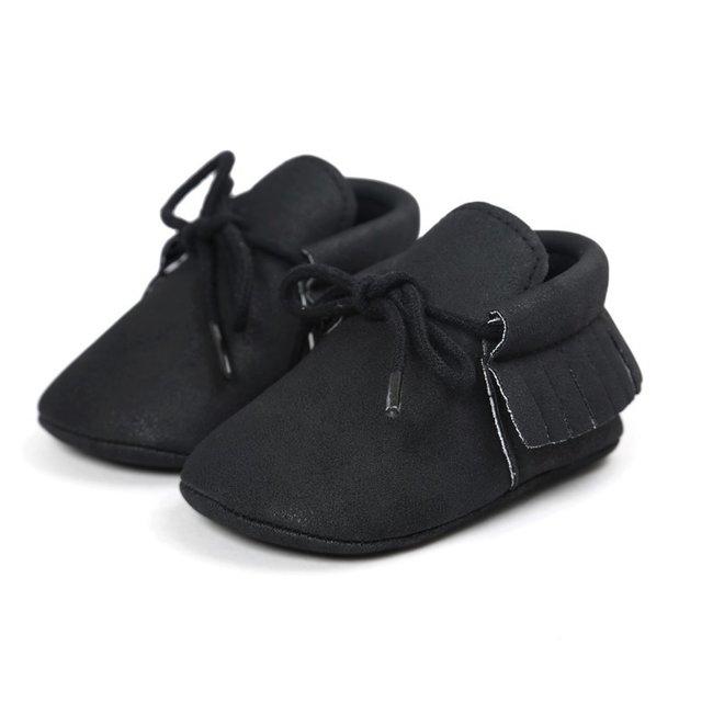 Baby Mocassins Leather Black