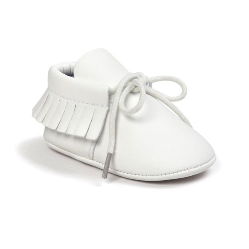 This Cuteness Baby Mocassins Leather White