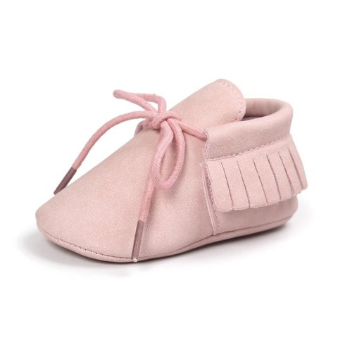 This Cuteness Baby Mocassins Leather Pink