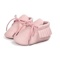 Baby Mocassins Leather Pink