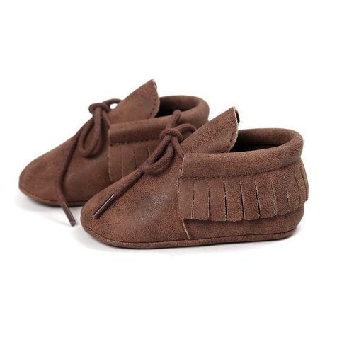 This Cuteness Baby Mocassins Leather Brown