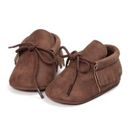 Baby Mocassins Leather Brown