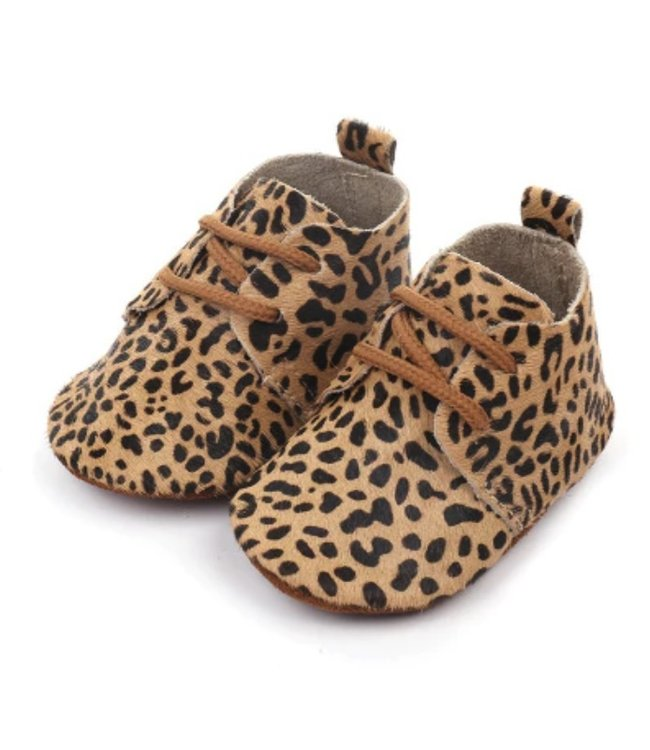 This Cuteness Baby Mocassins Leather Cheetah