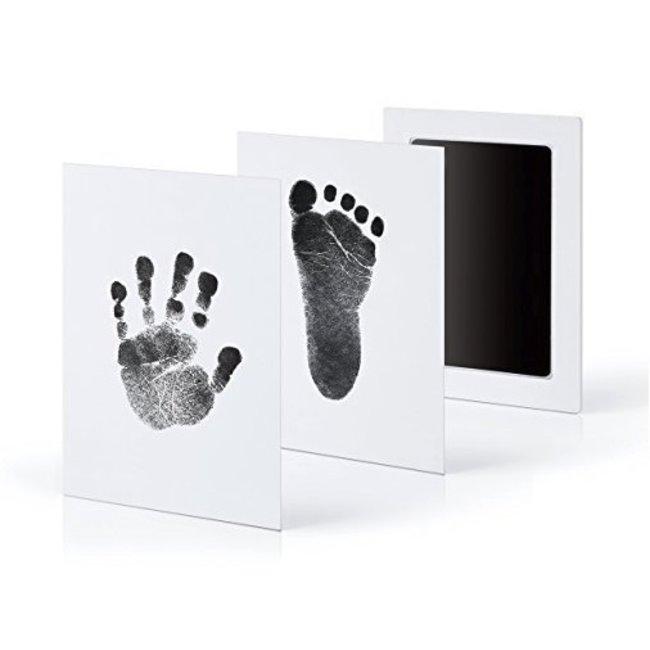 Baby Hand- en Voetafdruk Inkt Set Zwart