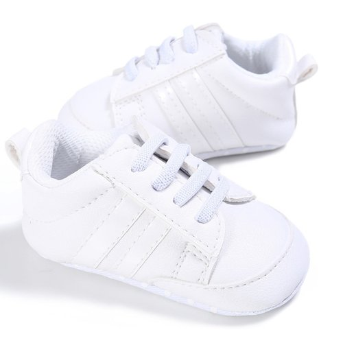 This Cuteness Baby Sneakers White Stripes