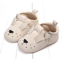 Baby Shoes Leather Beige Doggy