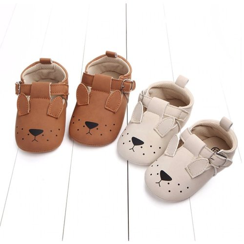 This Cuteness Baby Shoes Brown Doggy
