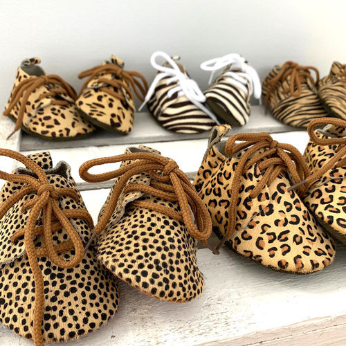 This Cuteness Baby Mocassins Leather Leopard Dots