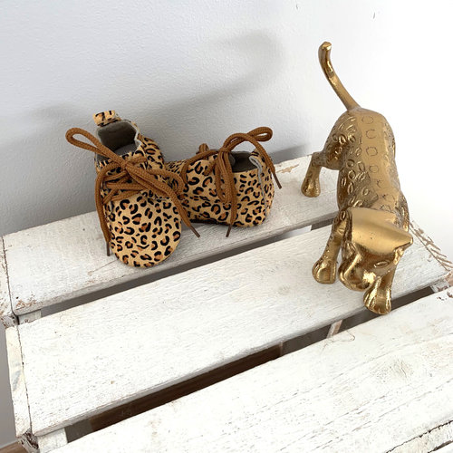 This Cuteness Baby Mocassins Leather Leopard