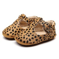 Baby Mocassins Open Cheetah