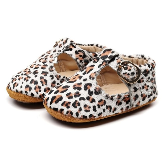 This Cuteness Baby T-Bars White Leopard