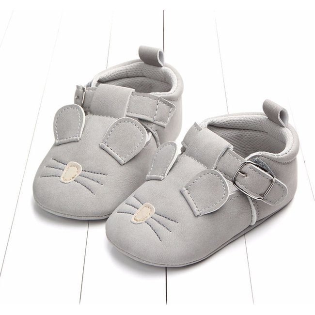 Baby T-Bars Grey Mouse