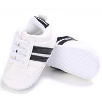 Baby Sneakers White Black Stripes