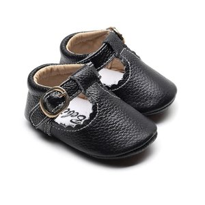 This Cuteness Baby Mocassins Open Black