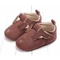 Baby Shoes Leather Bordeaux Bunny