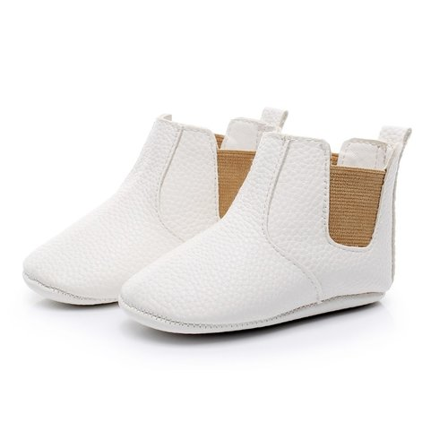 This Cuteness Baby Chelsea Boots White