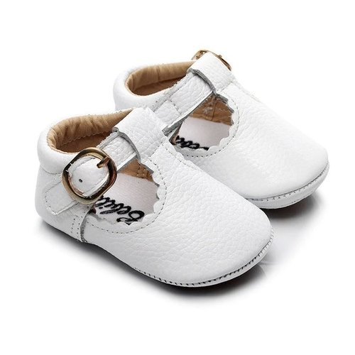 This Cuteness Baby Mocassins Open White