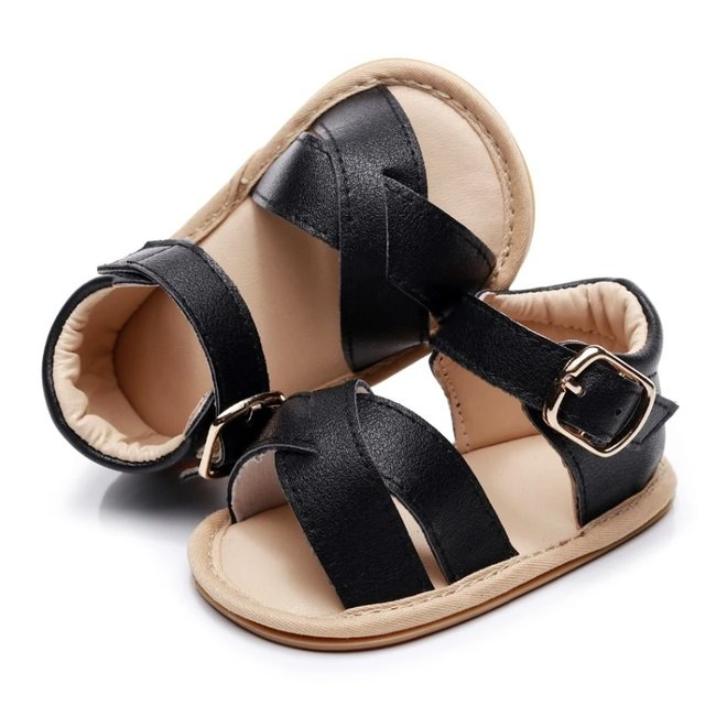 Baby Sandals Leather Black