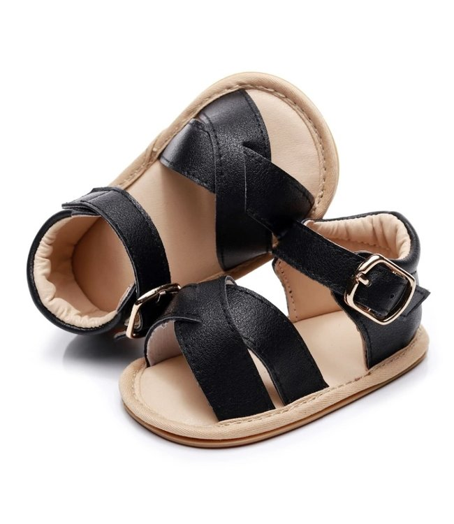 This Cuteness Baby Sandals Leather Black