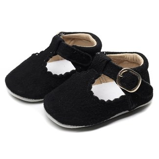 This Cuteness Baby T-Bars Suède Black