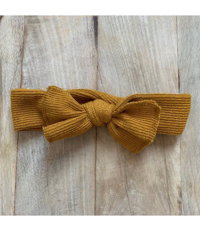 This Cuteness Haarband Ocher Yellow Cotton