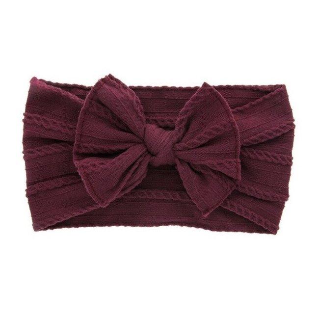 Haarband Bordeaux Knot