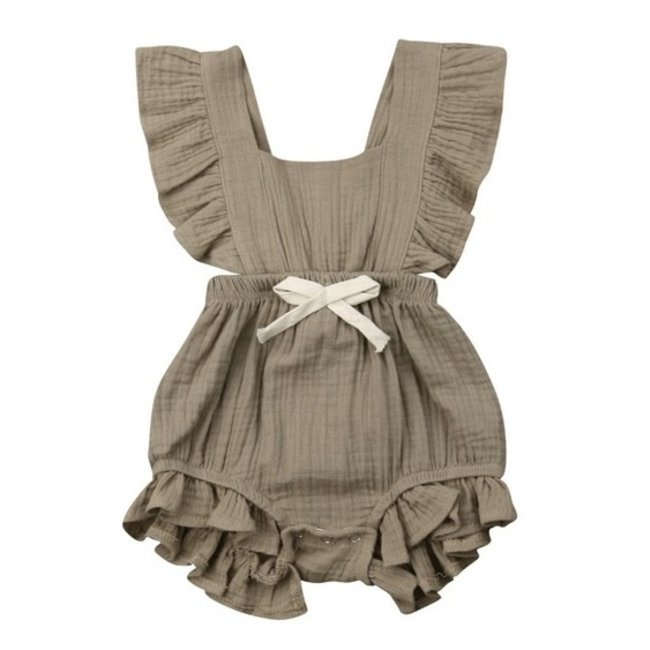Jumpsuit Old Brown Ruffle