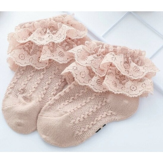Sokjes Old Pink Lace