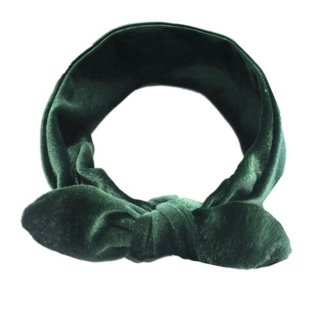 Haarband Velvet Green