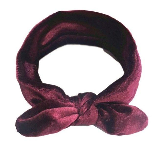 Haarband Velvet Bordeaux