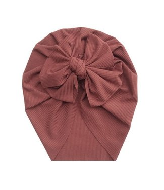 This Cuteness Turban Single Knot Old Red