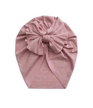 This Cuteness Turban Single Knot Old Pink