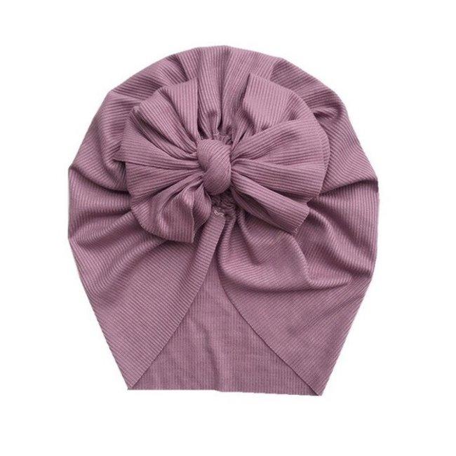 Turban Single Knot Lila