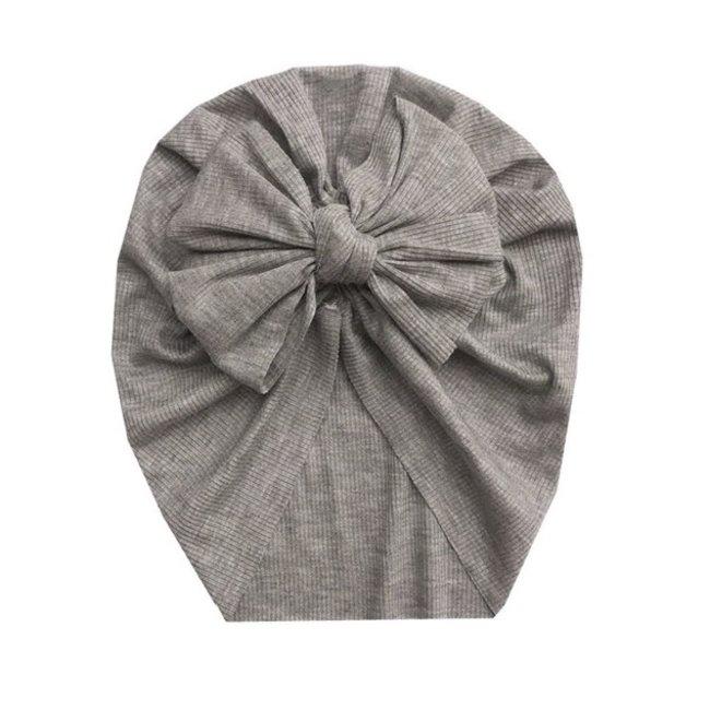 Turban Single Knot Grey