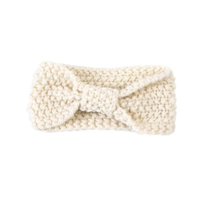 Haarband Knitted Wool Broken White