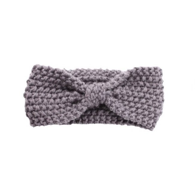 Haarband Knitted Wool Grey