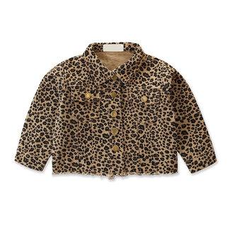 This Cuteness Jacket Denim Beige Leopard