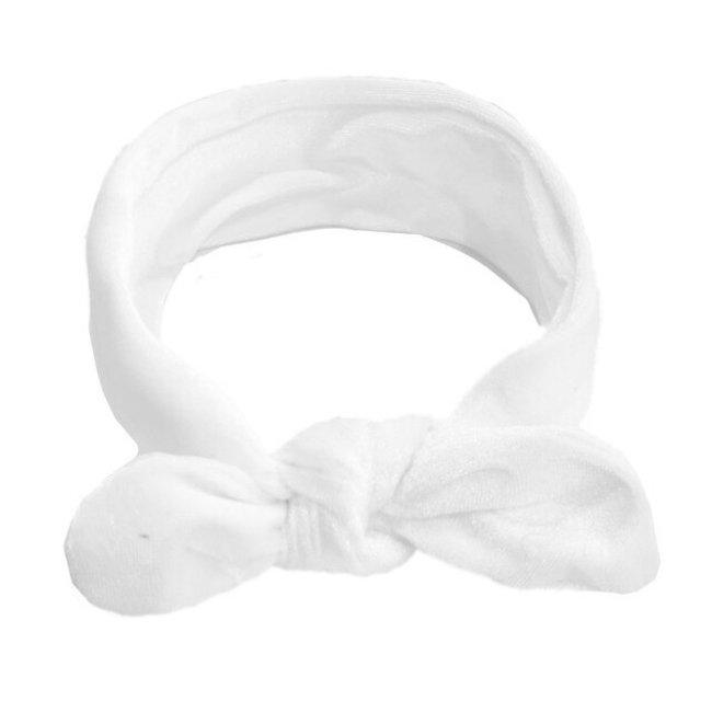 Haarband Velvet White
