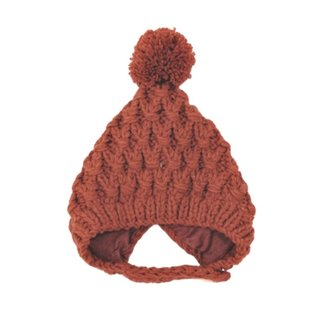This Cuteness Baby Muts Knitted Wool Old Red
