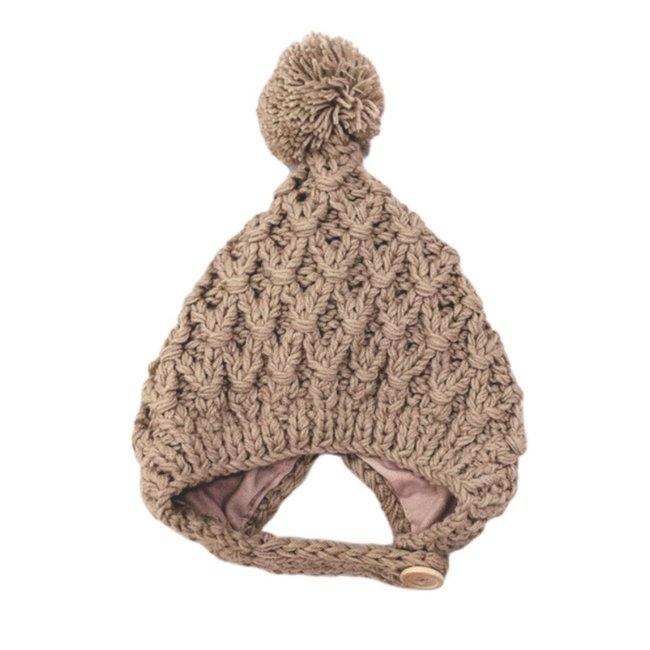 Baby Muts Knitted Wool Khaki