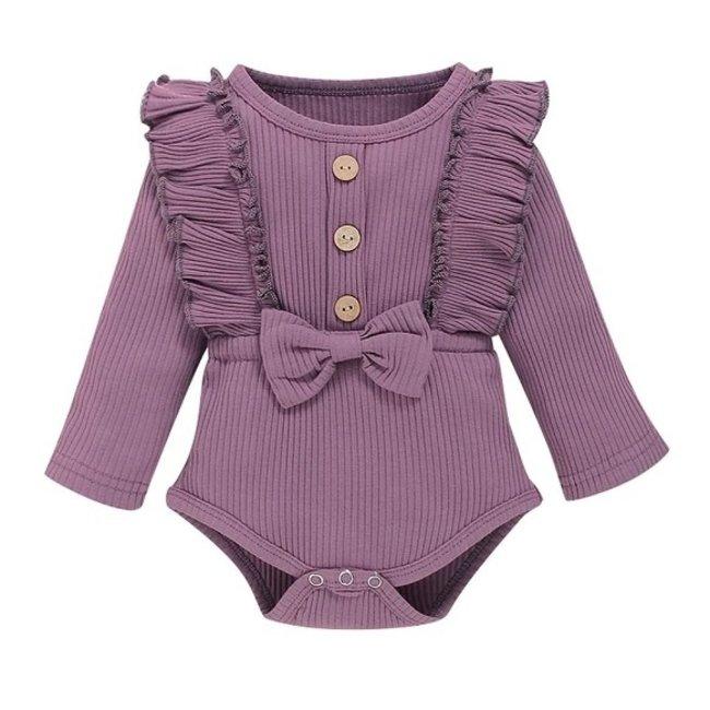 Body Rib Ruffle Purple