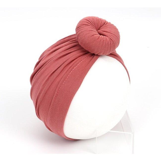 Turban Cotton Donut Pale Mauve