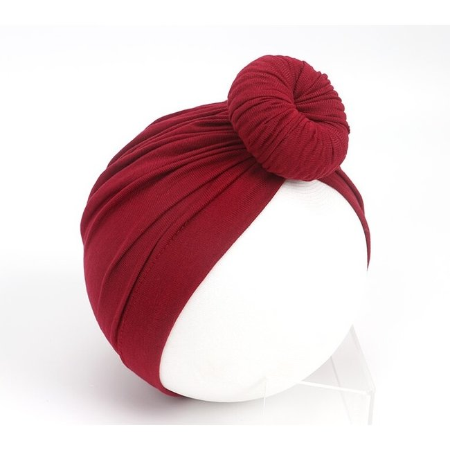 Turban Cotton Donut Old Red