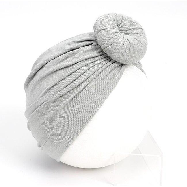 Turban Cotton Donut Grey
