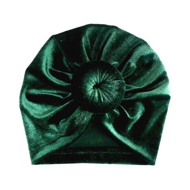 Turban Velvet Donut Green