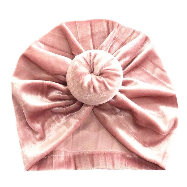Turban Velvet Donut Old Pink