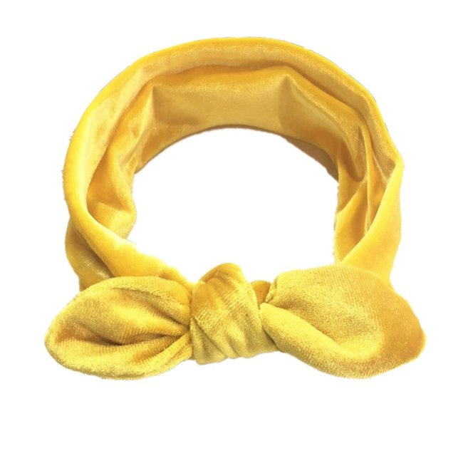 Haarband Velvet Yellow