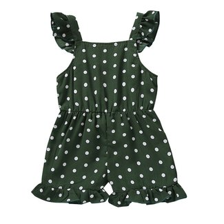 This Cuteness Jumpsuit Green Dots